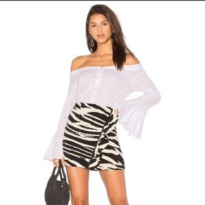 FREE PEOPLE zebra print mini skirt